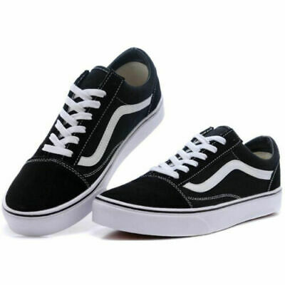 Van s Old Skool Classic Skate Shoe Men Women Unisex Suede Canvas Black