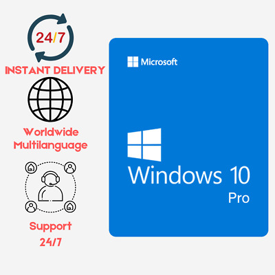 INSTANT Windows 10 Professional Pro x32/x64 (OEM) Key INSTANT