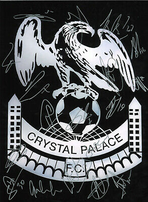 Multiple signed Crystal Palace 12x8 hand signed authentic football photo SS091