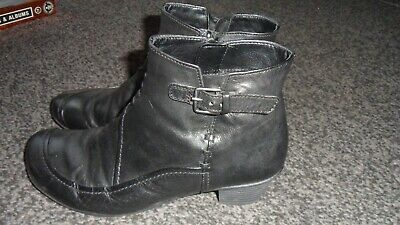 Ladies GABOR Comfort Soft Black Leather Ankle Boots, UK Size 6 NOT BEEN WORN