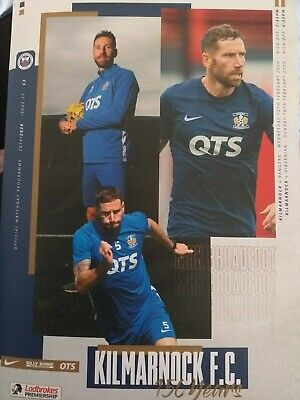 Kilmarnock v  Rangers and Hibs, double programme. Rugby Park 2020