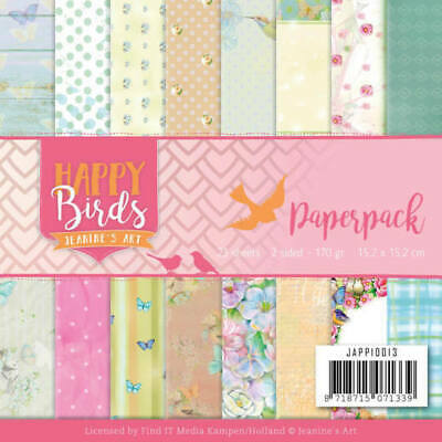 Paperpack - 15,2 x 15,2cm - Jeanines Art - Happy Birds – 170gr -