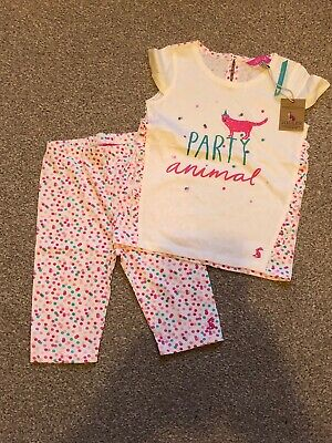 Girls Joules  Cat Tshirt And Shorts Set Age 2-3