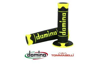 Domino A260 Black / Fluo Yellow Closed End MX Enduro Grips to fit Suzuki RMX 450