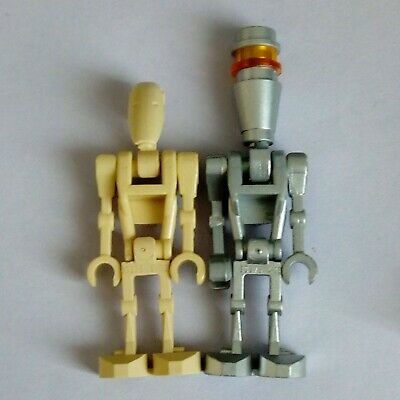 Genuine Lego Star Wars Battle Droid and Assassin Droid Minifigures