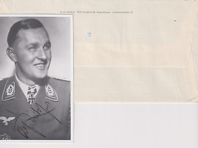 SP & 2 letters Oberst Adolf Dickfeld - Luft ace - 136 victories - Knights Cross
