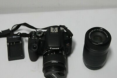 Canon EOS Rebel T7i Camera - EF 18-55 mm / 55-250 mm IS STM Lens -