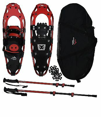 Mountain Tracks Pro Series Snowshoe Set with Poles and Bag (62cm or 2.03 feet)