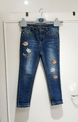 Vigoss Girls Kids Jeans Age 4 Years Sparkly Cats children formal casual skinny