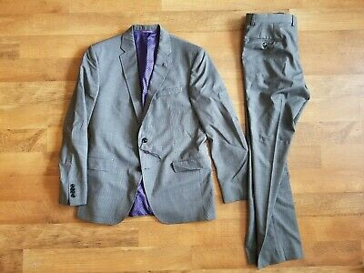 """$895 TED BAKER ENDURANCE 42 R w 34 x 31 RECENT """"JAY CT"""" grey two piece suit NEW"""