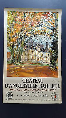 France, Chateau D`Angerville-Bailleul, Mabossy for French Railways, Cond.A, 1938