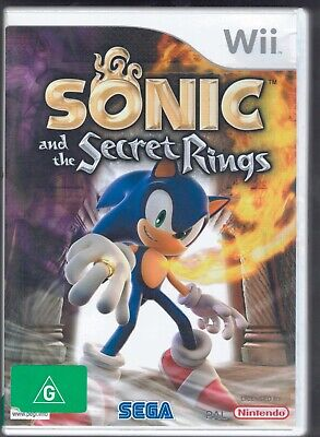 Sonic and the Secret Rings for Nintendo Wii in Box with Manual