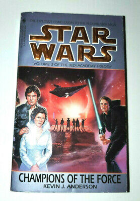 STAR WARS - CHAMPIONS OF THE FORCE by Kevin J Anderson 1994 pb book Jedi Academy