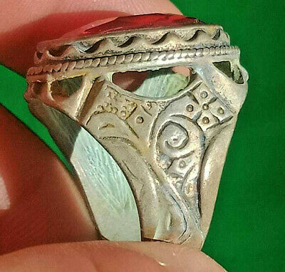Museum Quality Ancient Viking Ring Metal Color Silver Artifact Amazing