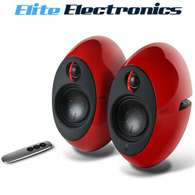 "Edifier Luna E25 2.0 Bluetooth Speakers 3"" Bass Radiators Wireless Red"