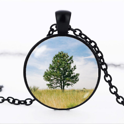 tree of life necklace photo Glass Dome Chain Pendant Necklace wholesale jewelry