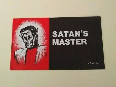 Jack Chick Satan's Master 1986 Vintage Comic Christian Tract Gospel Salvation