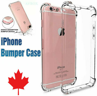 For iPhone 6 6S 7 8 Plus X XS MAX XR Clear Case Soft TPU Bumper Cover ShockProof