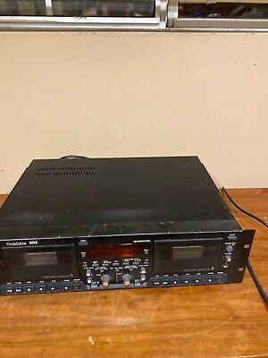 Tascam 302 Dual Cassette Deck Professional Tape Recorder Rack Mount