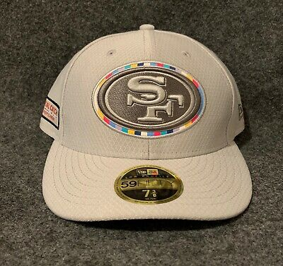 New Era San Francisco 49ers Sideline 59Fifty 2018 Crucial Catch Hat Size 7 3/8