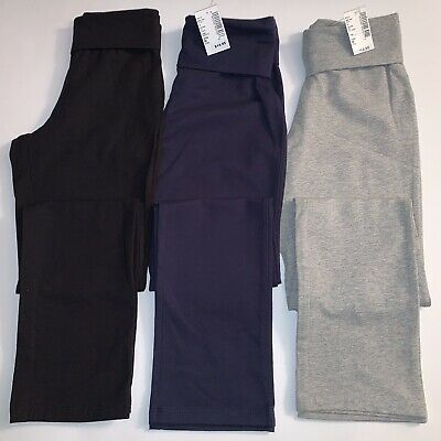 The Children's Place High Waist Leggings Lot of 3 Sz Medium 7-8 Black Navy Gray