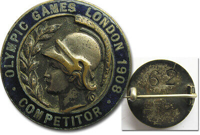Olympic Games London 1908 Participation badge RARE