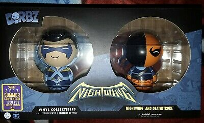 Nightwing & Deathstroke Funko Dorbz 2 Pack SDCC 2017 Exclusive LE 1500 Rare DC