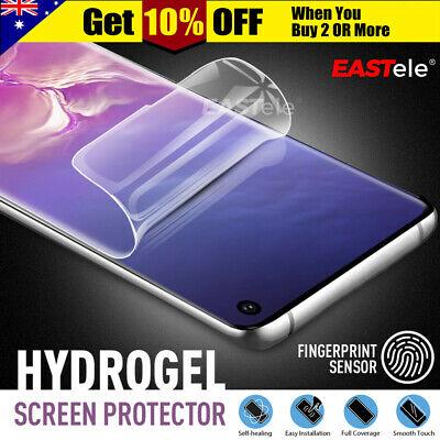 3x EASTele Samsung Galaxy S10 5G S9 S8 Plus Note 10 9 HYDROGEL Screen Protector