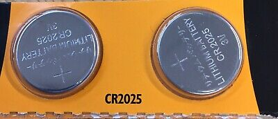 2 X JCB CR2025 3V Lithium Button Coin Cell Battery