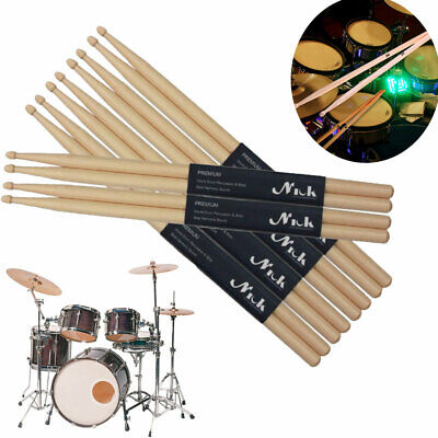 ProKussion 5A and 5B Drumstick 12 Pair Brick Bundle 5A J Hickory//Maple//Junior