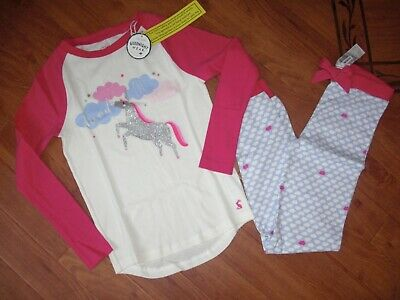 Bnwt Girls Joules Sleepwell Unicorn Cloud Winter  Pjs  Pyjamas Age 9-10 Yrs.