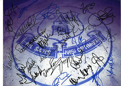 Everton Football Legends Signed 16 x 12 inch hand signed authentic photo SS122C