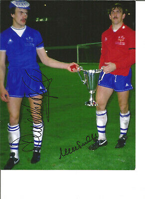 Derek Mountfield Neville Southall Everton hand signed authentic photo SS142