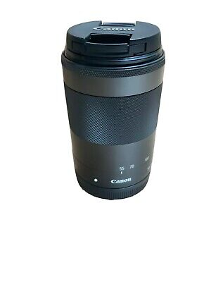 Canon EF-M 55-200mm Image Stabilizer F4.5-6.3 IS STM Lens with Front & Rear Caps
