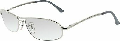 Ray-Ban Men's Gradient RB3178-003/3G-59 Silver Rectangle Sunglasses