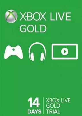 Xbox Live Gold 14 Day Trial Membership Code XBOX ONE And XBOX360