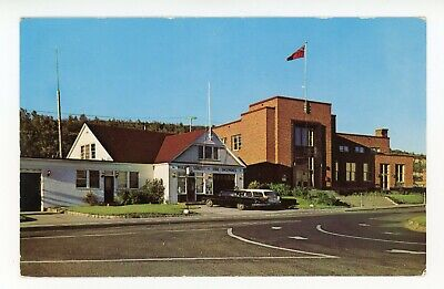 Post Office Police & Fire Station BAIE COMEAU Quebec Canada Postcard