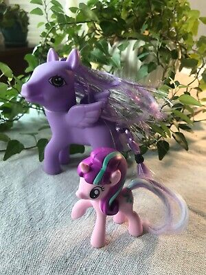 My Little Pony ponies two big and small unicorn wings Purple pink pair