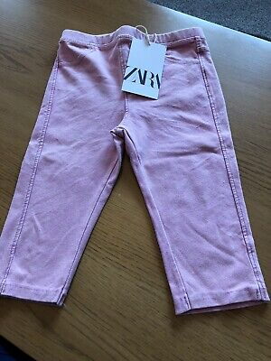 Girls Zara Pink Cropped Jeggings Age 3-4 Years