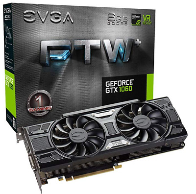 EVGA GeForce GTX 1060 FTW+ GAMING, 06G-P4-6368-KR, 6GB GDDR5, ACX 3.0 & LED Part