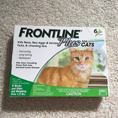 Frontline Plus Flea and Tick Treatment for Cats - 6 Doses