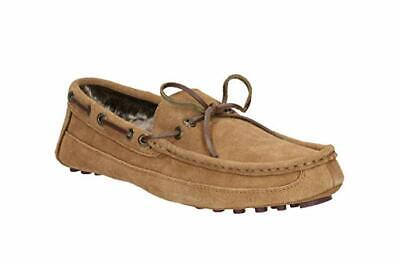 CLARKS MEN'S KITE BRAVE Tan Suede Moccasins  SLIPPERS SIZE 7-11 G