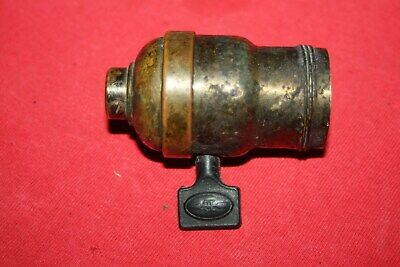 Vintage Arrow E  Brass and Porcelain Paddle Switch Light Replacement Socket