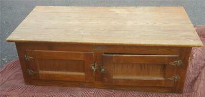 Antique White Clad Ice Box - ALL WOOD - ORIGINAL BRASS HARDWARE - COLLECTIBLE
