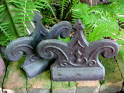Antique Victorian Roof Crest Tin Finial Folk Art Shabby Chic Architectural 1890