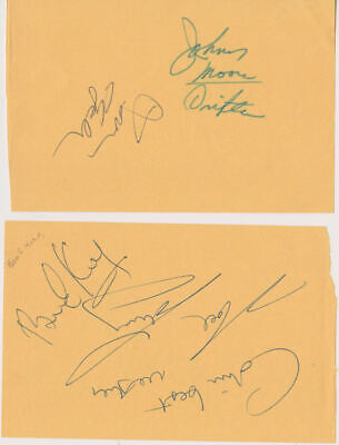 BEN E KING, JOHNNY MOORE + 2 DRIFTERS signed pages UACC RD retirement sale