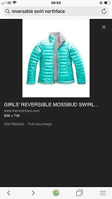 Northface Girls Reversable Mossbud Swirl Coat XL Could Fit Ladies 8