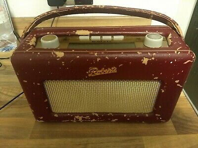 Roberts RD10 Revival DAB / FM Radio Burgundy with power supply