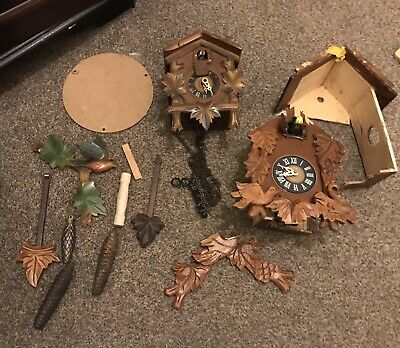 Antique Vintage cuckoo clocks spares or repairs.