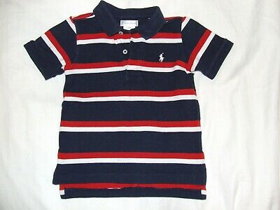 Boys Ralph Lauren navy red white  polo shirt age 2 years